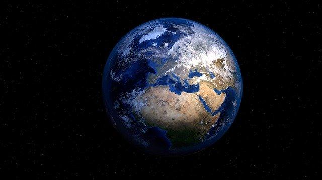 Die Erde aus dem Weltall betrachtet